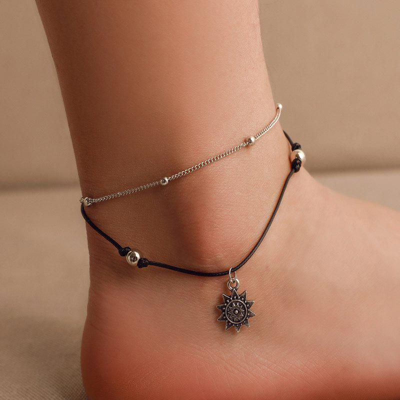 Fashion Double Layers Anklet Beach Chain