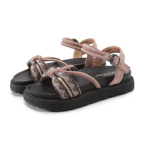 Spring and Summer Beach Flat Bottom Thick Ladies Sandals