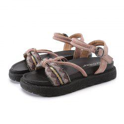 Spring and Summer Beach Flat Bottom Thick Ladies Sandals -