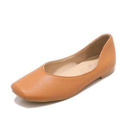 Square Toes Pure Color casual Low Heel lady Pumps -