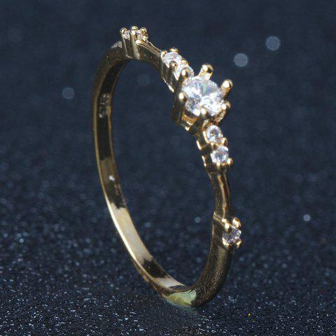 f3da0e4b60 14K Gold Plated Eternity Thin CZ Band Rings Silver Tiny Jewellery Ring