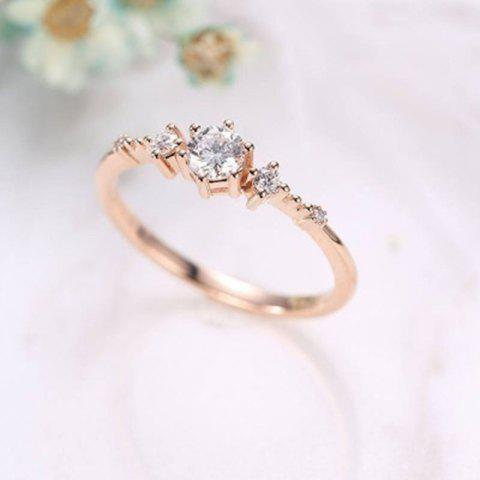 14K Gold Plated Eternity Thin CZ Band Rings Silver Tiny Jewellery Ring