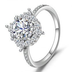 Natural Gemstone Diamond Silver Ring Bridal Engagement Fine Jewelry -