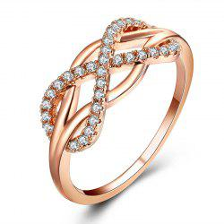 Wedding Ring Love Diamond Infinity Bowknot Rings for Women Rhinestone Jewelry -