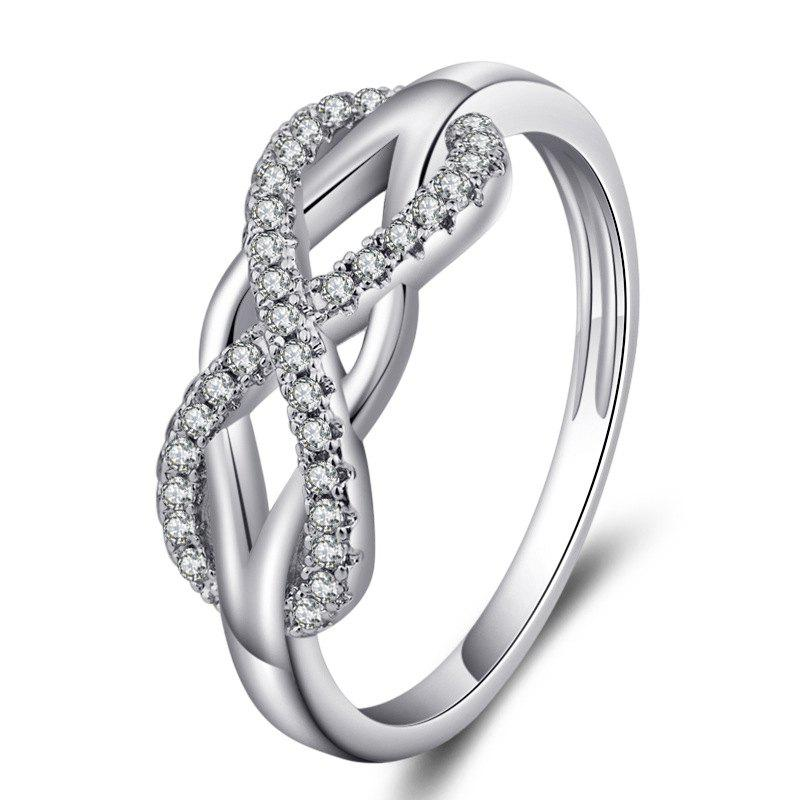 Latest Wedding Ring Love Diamond Infinity Bowknot Rings for Women Rhinestone Jewelry