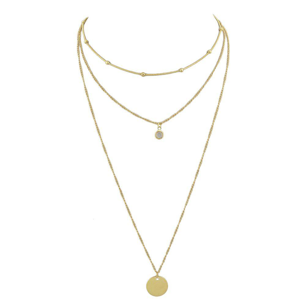 Latest Gold Silver Color Chain With Rhinestone Drop Necklace