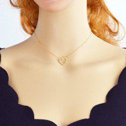 Gold Color Chain With Heart Pendant Necklace -