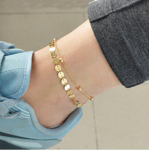 Gold Silver Color Chain with Beads Anklet 1PC