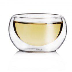 50ML Elegant Clear Drinking Heat Resistant Double Wall Layer Tea Cups 6PCS -