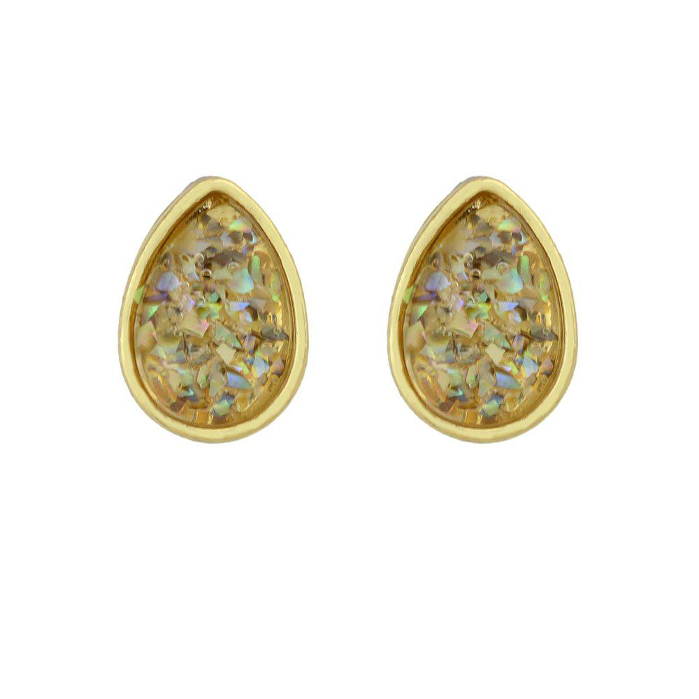 Shops Colorful Stone with Water Drop Shape Stud Earrings