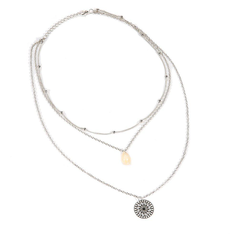 Cool Personality Shells Beads Sun Multi-Layer Necklace