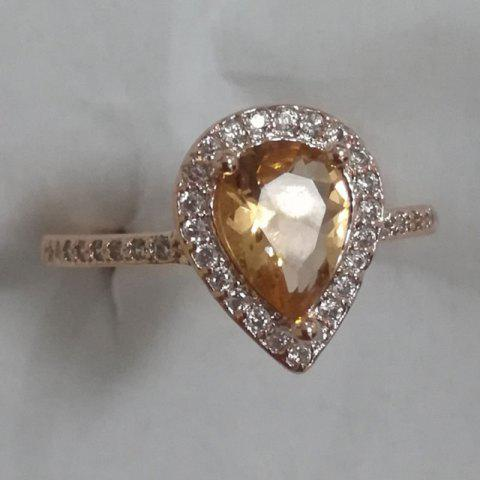 14K Rose Gold Natural Moist Stone and Diamond Halo Women Ring