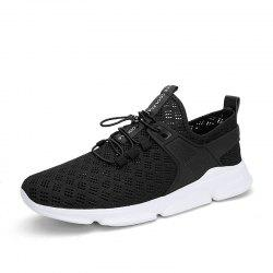 Summer New Large Size Hollow Breathable Mesh Sports Casual Shoes for Men -