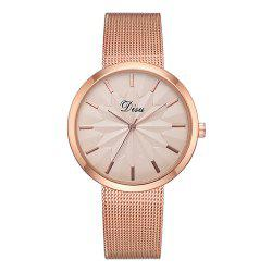 Disu Ds180 Fashion Simple Mesh Strap Casual Ladies Watch -