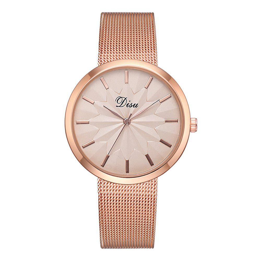 Fashion Disu Ds180 Fashion Simple Mesh Strap Casual Ladies Watch