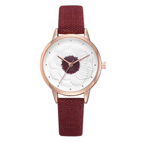 Xr3290 Simple and Stylish Floral Embossed Ladies Watch