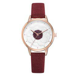 Xr3290 Simple and Stylish Floral Embossed Ladies Watch -