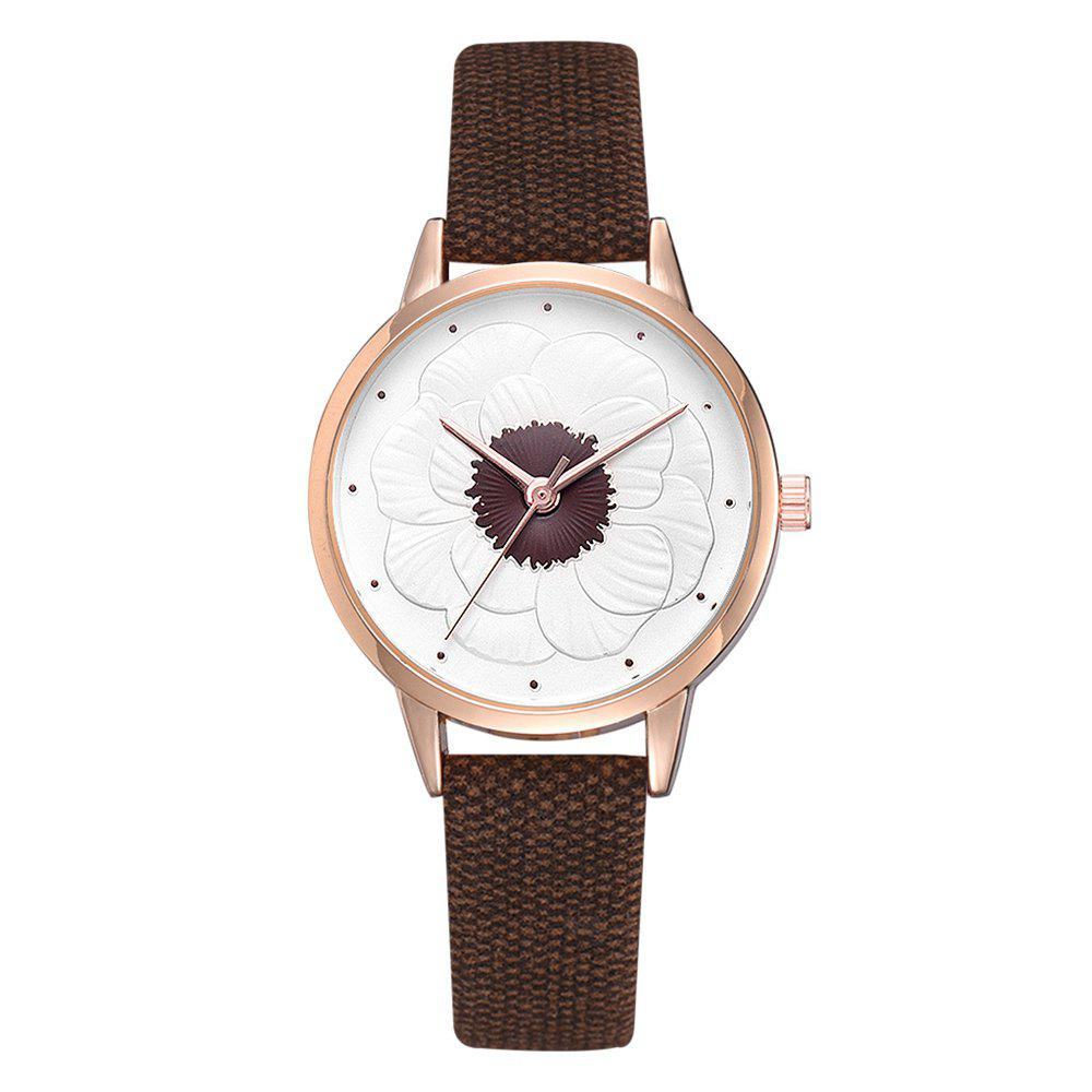 Fancy Xr3290 Simple and Stylish Floral Embossed Ladies Watch