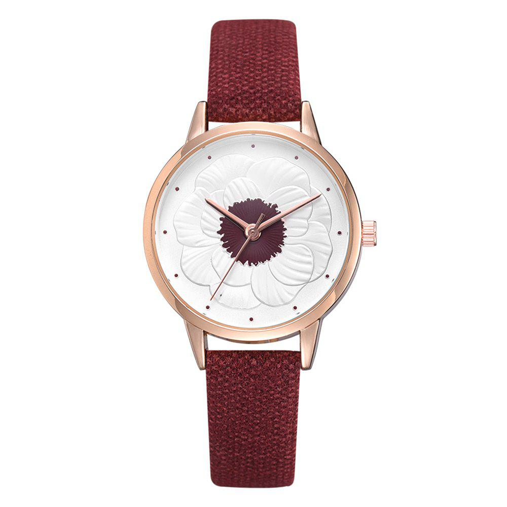 Latest Xr3290 Simple and Stylish Floral Embossed Ladies Watch
