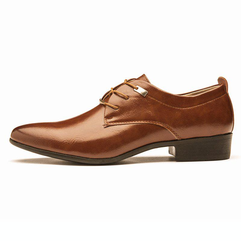 495150ef5d3c Discount Men Business Pointed British Style Casual Shoes