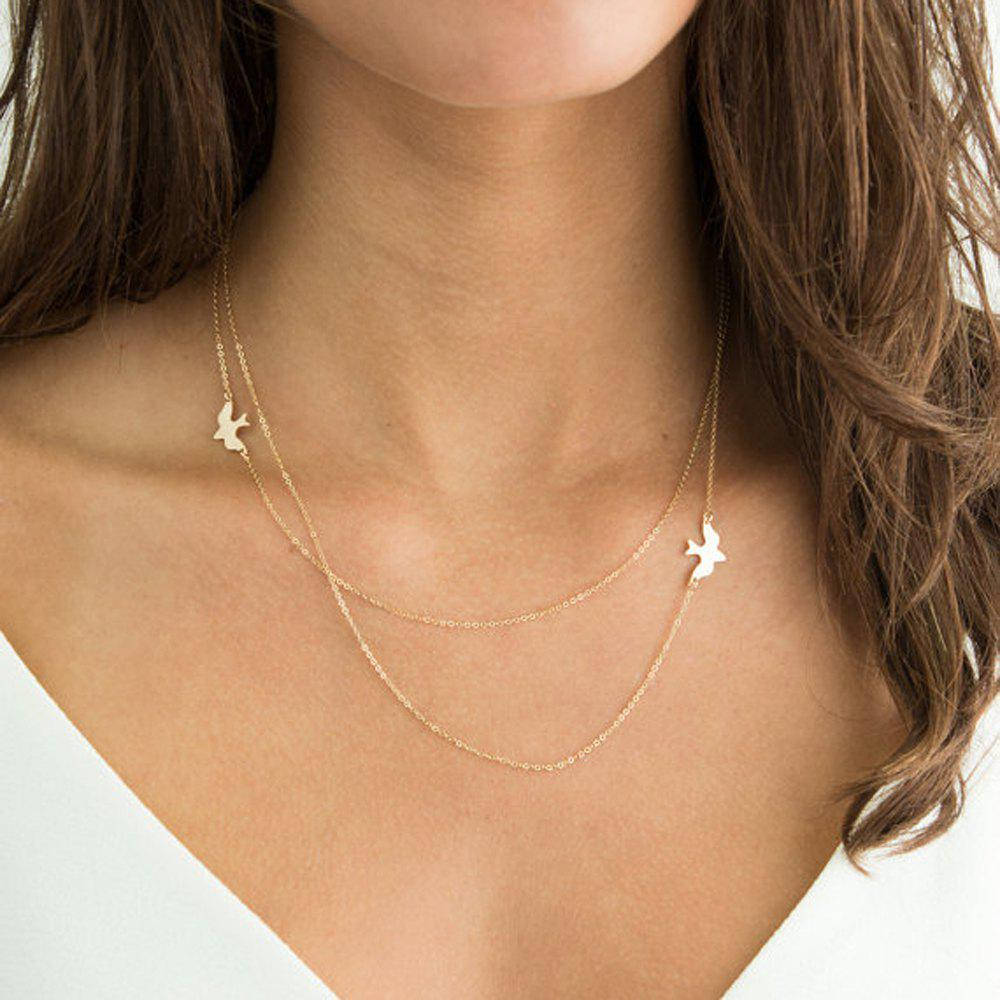 Fashion Minimalist Silver Color Chain Necklace