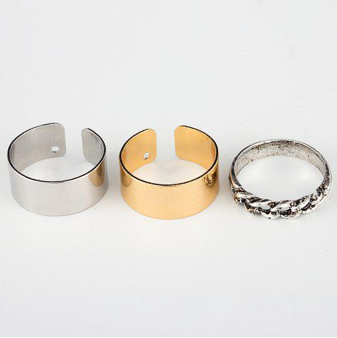 HAOMOU JZ002 Open Knuckle Lady Ring Ornament Rose Gold Tail Ring