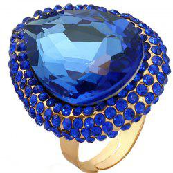 Big Diamond Ring with An Exaggerated Opening -