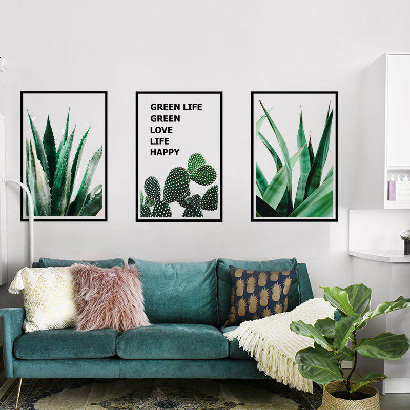 Cactus Green Plant Removable PVC Wall Stickers