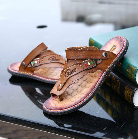 Men's Sandals Genuine Leather Men Beach Slippers Comfortable Outdoor Shoes