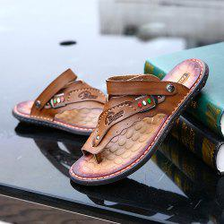 Men's Sandals Genuine Leather Men Beach Slippers Comfortable Outdoor Shoes -