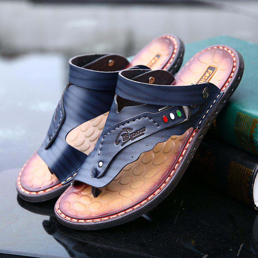 Fashion Men's Sandals Genuine Leather Men Beach Slippers Comfortable Outdoor Shoes