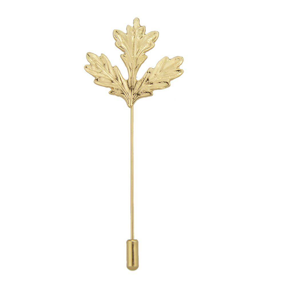 New Gold Silver Color Long Chain with Leaf Shape Brooch