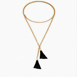 Exaggerated Simple Long Tassel Necklace Necklace -