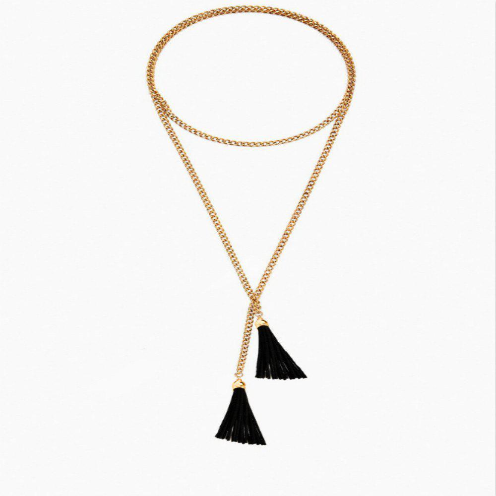 Affordable Exaggerated Simple Long Tassel Necklace Necklace