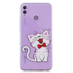 Laughing Cat Painting TPU Phone Case for Huawei Honor 8X -