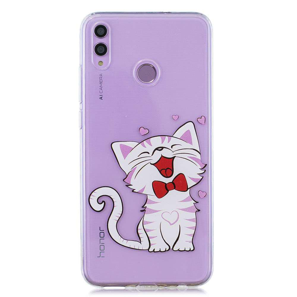 Store Laughing Cat Painting TPU Phone Case for Huawei Honor 8X