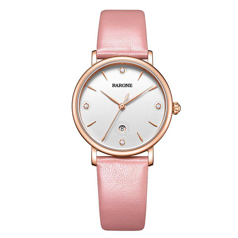 Sale Rarone Fashion Luxury Waterproof Genuine Leather Lady Quartz Watch