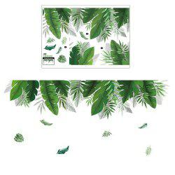 Palm Leaf Nordic Simple Style Removable Decoration Wall Sticker -