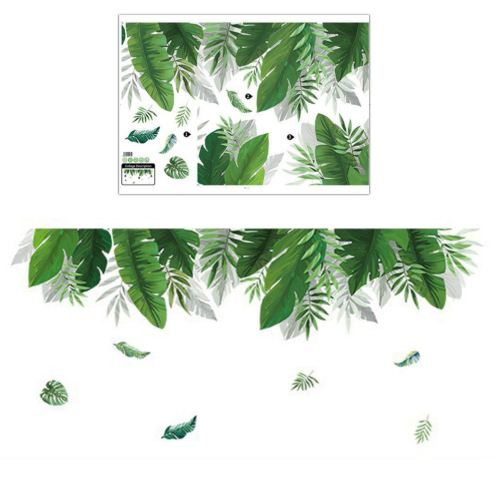 Hot Palm Leaf Nordic Simple Style Removable Decoration Wall Sticker