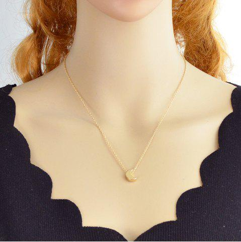 Gold Silver Color Chain With Moon Pendant Necklaces