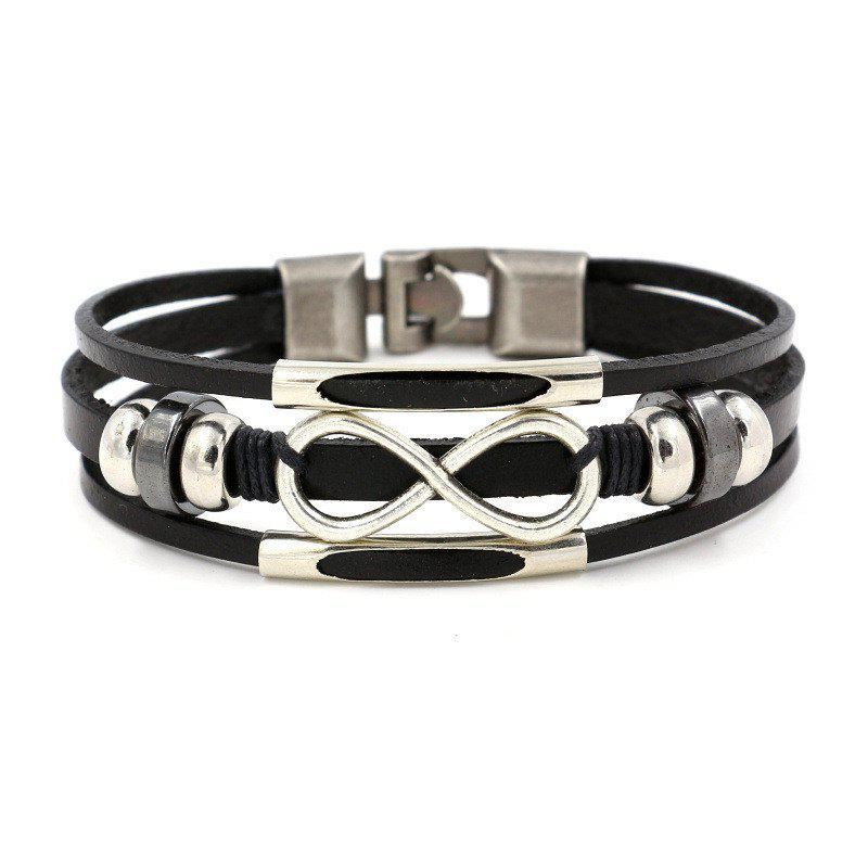 Discount Stylish Leather All-in-one Multilayer Analemma Bracelet