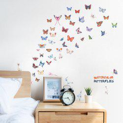 Color Butterfly Removable PVC Window Film Wall Sticker -