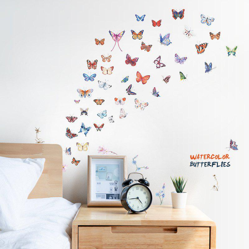 Store Color Butterfly Removable PVC Window Film Wall Sticker