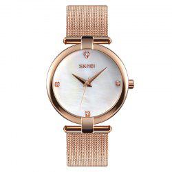 SKMEI 9177 Fashion Women Watches Waterproof Simple Stainless Steel Classic -