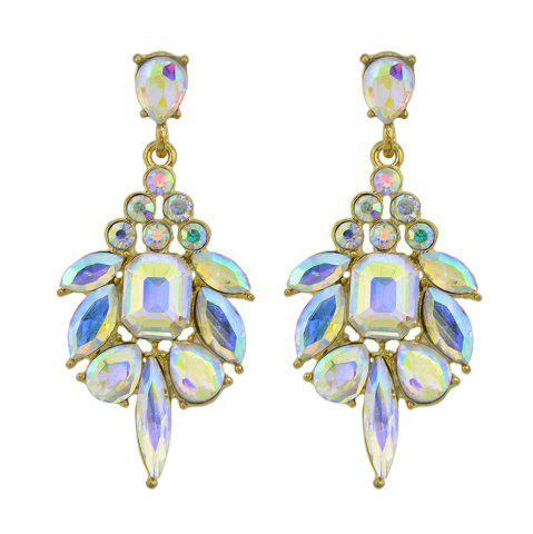 Gold-Color With Rhinestone Crystal Drop Earrings