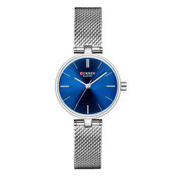 Simple Fashion Stainless Steel Mesh with Waterproof Thin Quartz Girl Watch -
