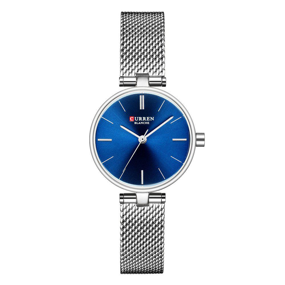 Hot Simple Fashion Stainless Steel Mesh with Waterproof Thin Quartz Girl Watch