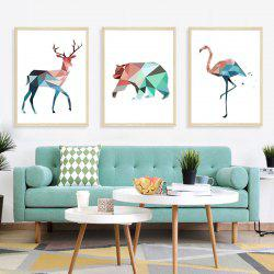 Stereo Animal Removable PVC Window Film Wall Stickers -