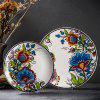 European Vintage Ceramic Furniture Sofa Background Wall Hanging Dish -