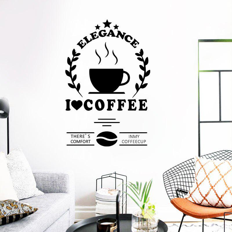 Affordable Creative Coffee Removable PVC Window Film Wall Stickers